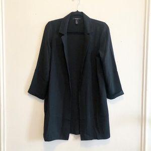NWOT F21 Black longline blazer lightweight small